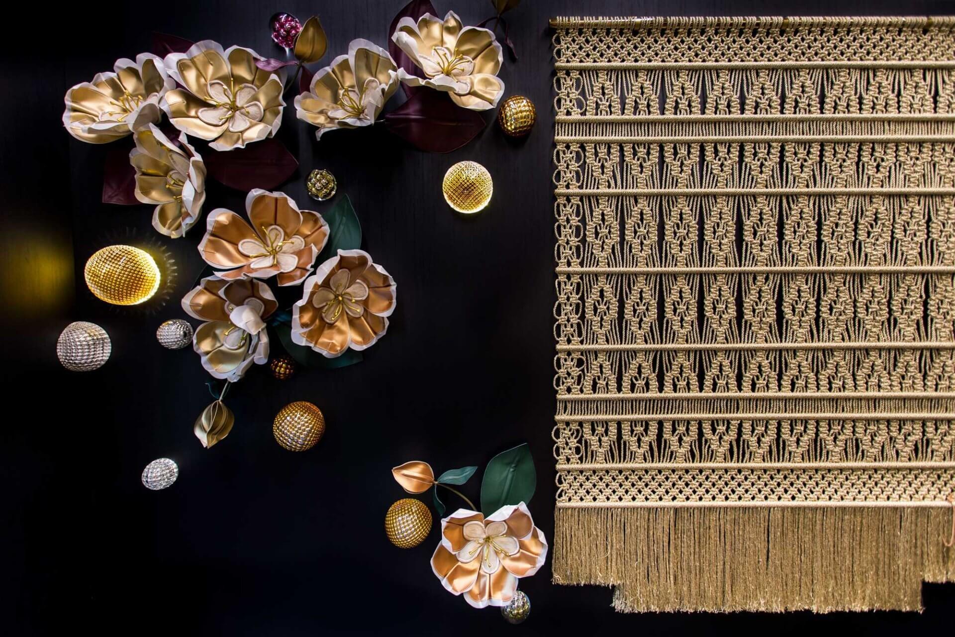 Golden on Dubai Milla Novo Macrame Wallhanging