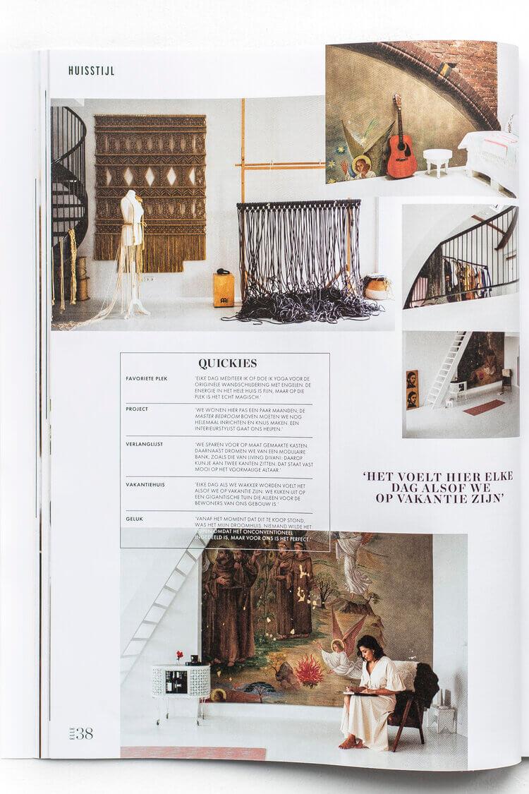 Elle Magazine featuring interior article Milla Novo Macrame Wallhanging