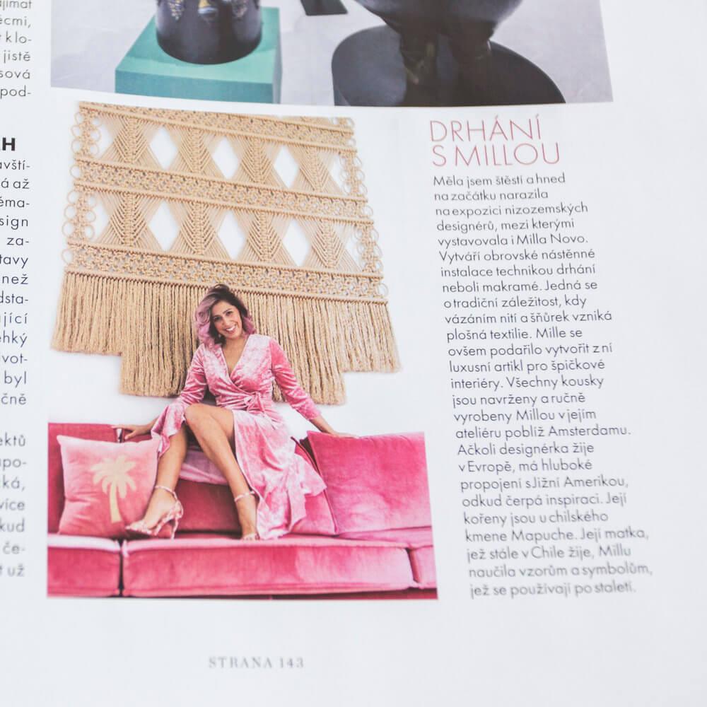 Polish magazine article Milla Novo Macrame Wallhanging