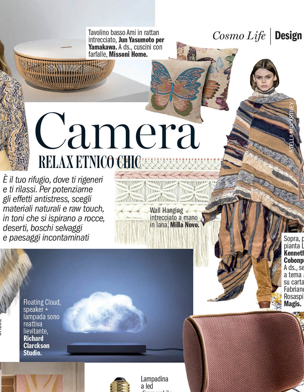 Featuring in magazine for interior Milla Novo Macrame Wallhanging