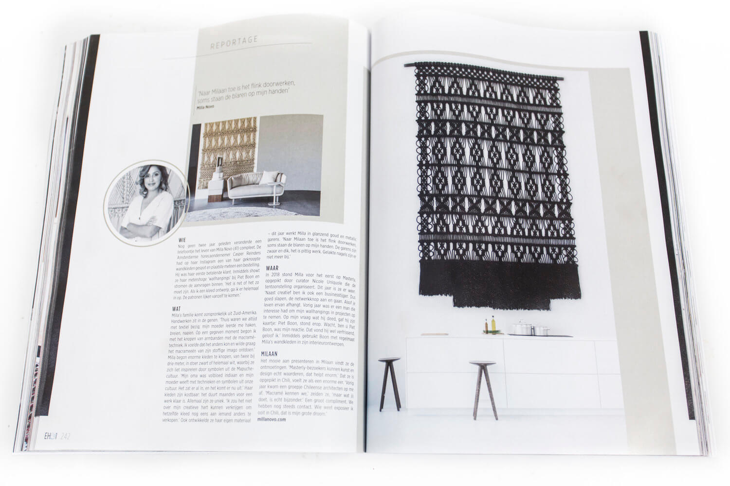 Article with black Milla Novo Macrame Wallhanging