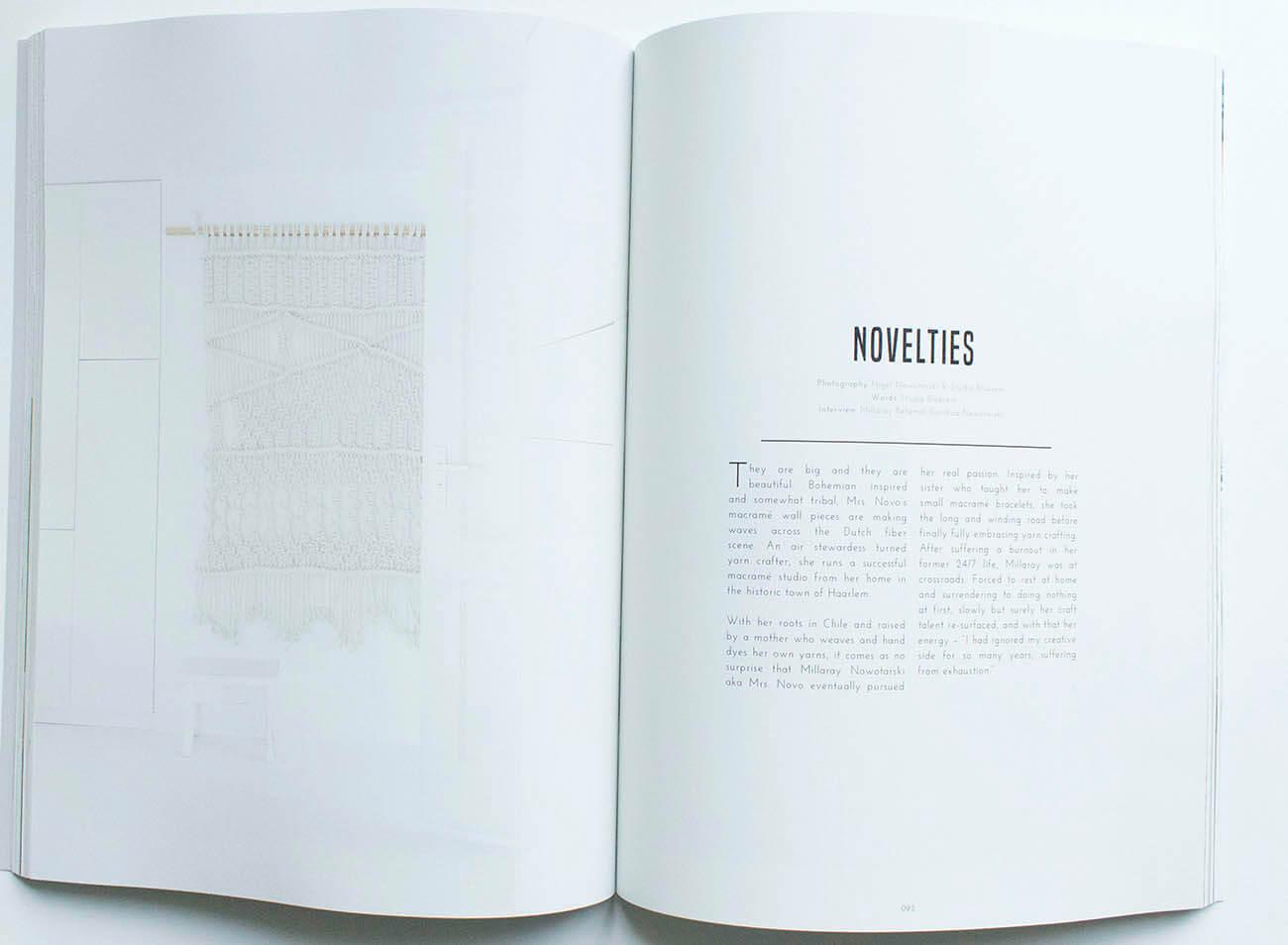 Art Novelties in magazine Goud Gold Milla Novo Macrame Wallhanging