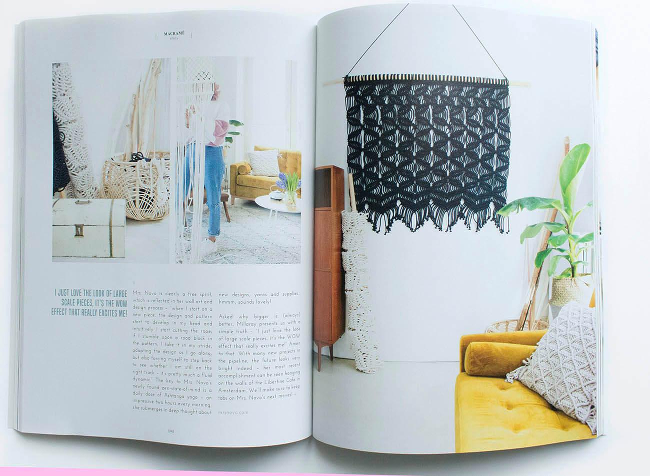Koel magazine interior article Milla Novo Macrame Wallhanging