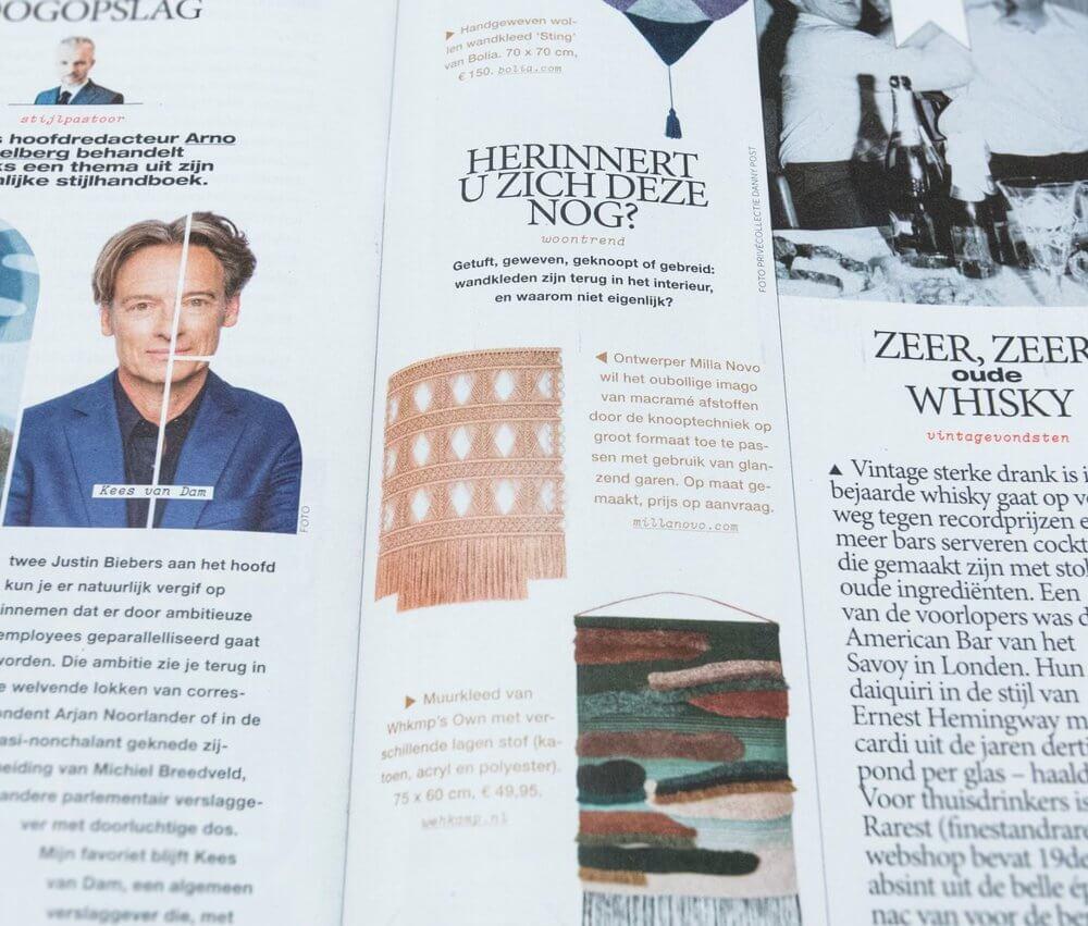 Volkskrant Magazine Milla Novo Macrame Wallhanging