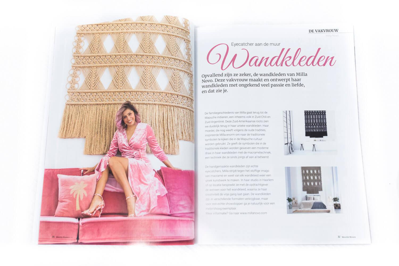 De Vakvrouw magazine article Milla Novo Macrame Wallhanging