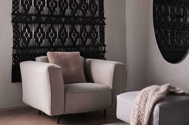 Black in stylish interior Milla Novo Macrame Wallhanging