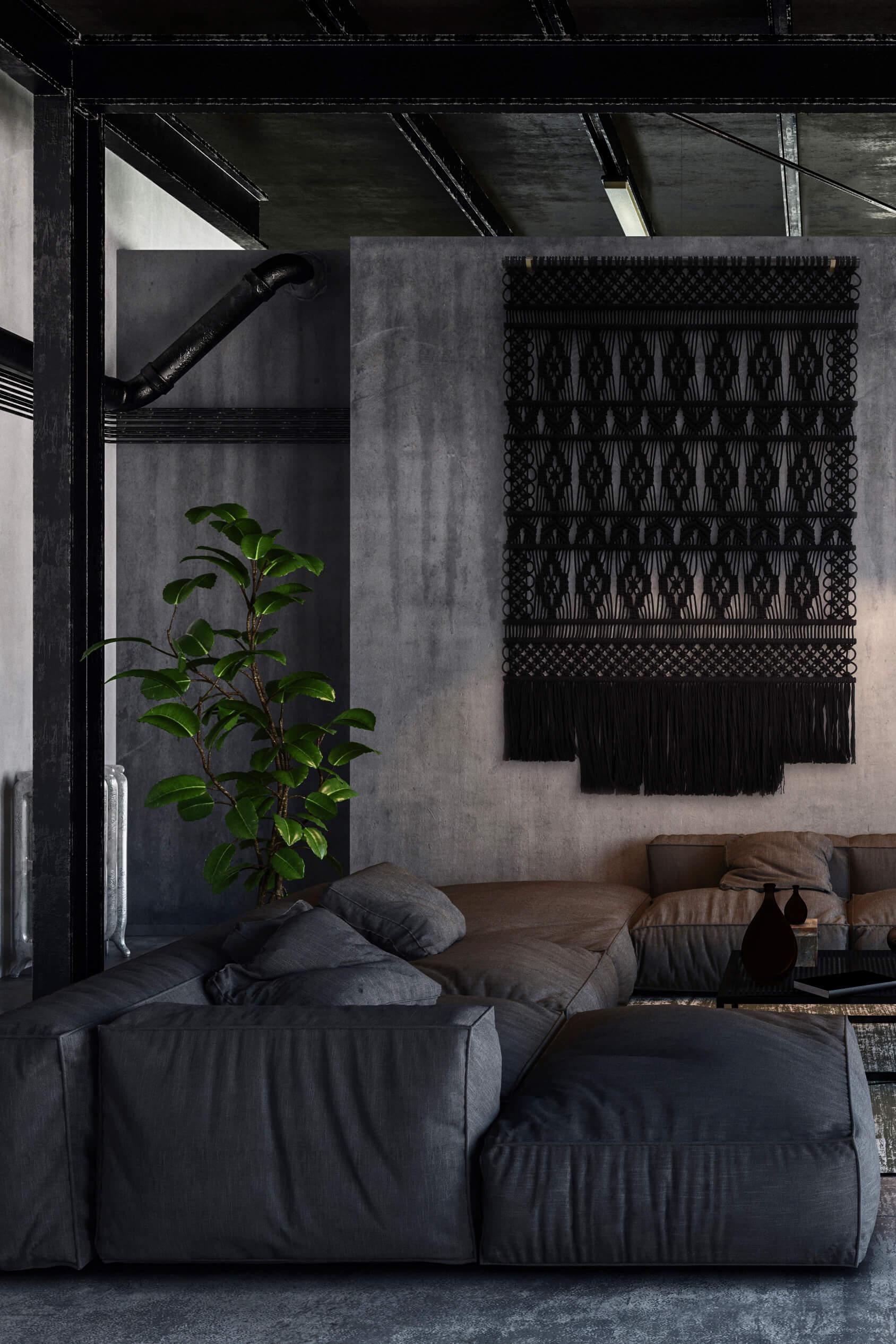 Black in exclusive interior Milla Novo Macrame Wallhanging