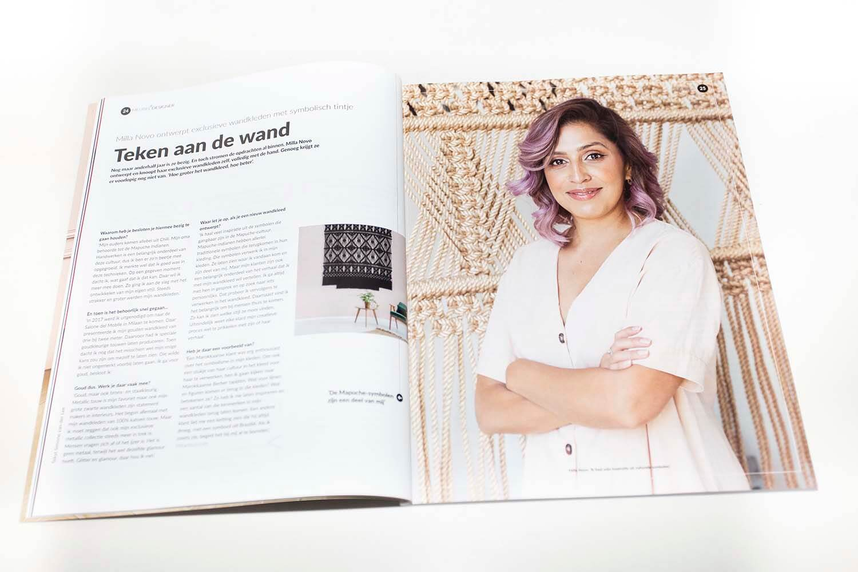 Article in interior magazine Milla Novo Macrame Wallhanging