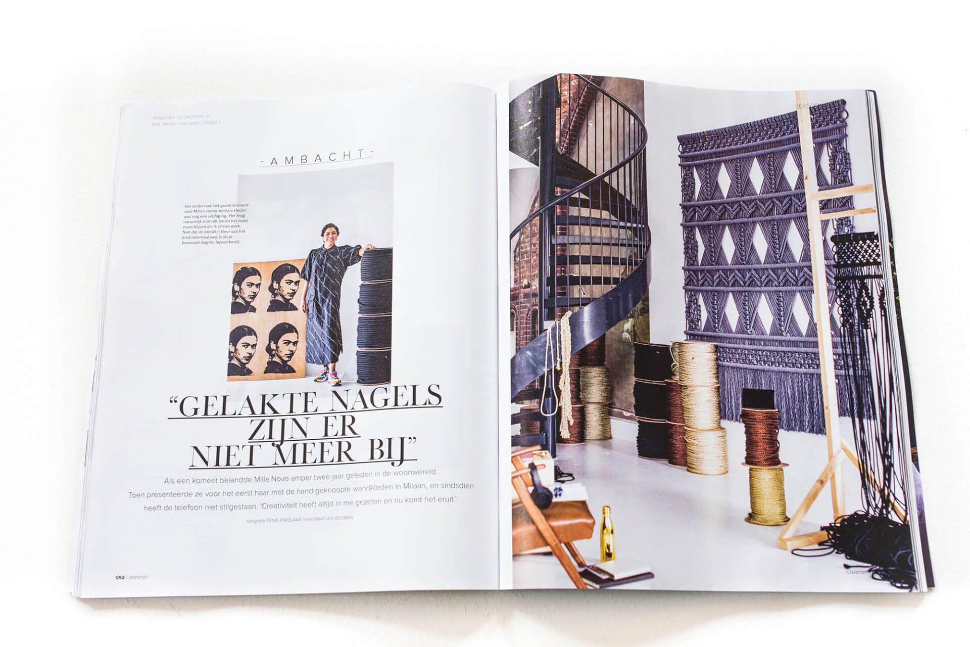 VT Wonen magazine article Milla Novo Macrame Wallhangings